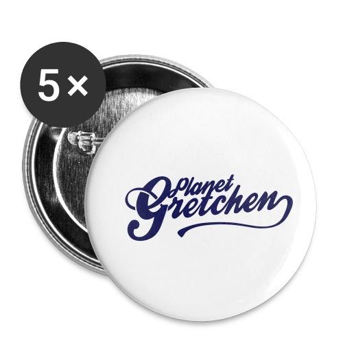 Planet Gretchen svart - Små knappar 25 mm (5-pack)