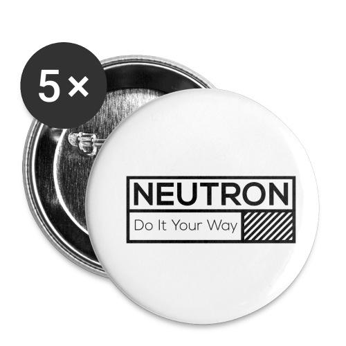 Neutron Vintage-Label - Buttons klein 25 mm (5er Pack)