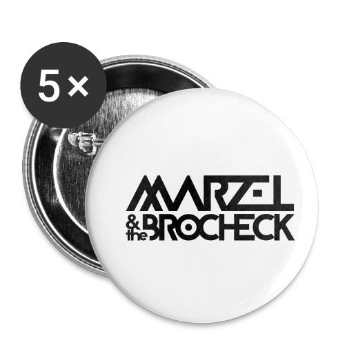 Marzel And The Brocheck - Buttons klein 25 mm (5er Pack)