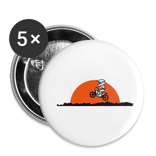 Paris Dakar - Buttons klein 25 mm (5er Pack)
