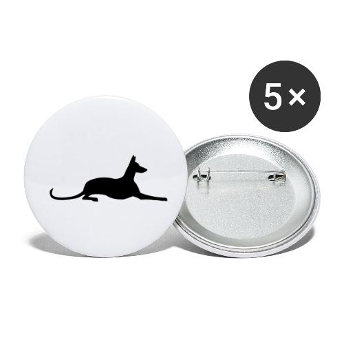 Podenco - Buttons klein 25 mm (5er Pack)