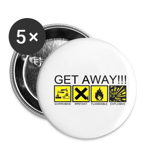 get away - Paquete de 5 chapas pequeñas (25 mm)