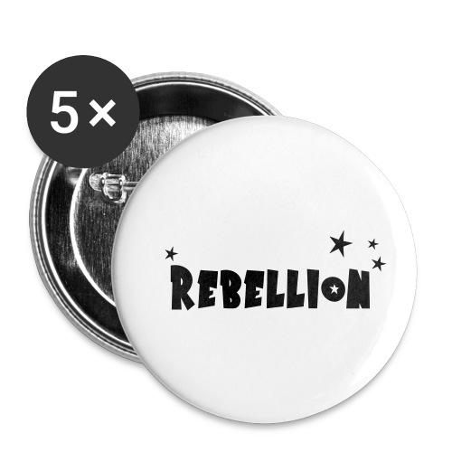 Rebellion - Buttons klein 25 mm (5er Pack)