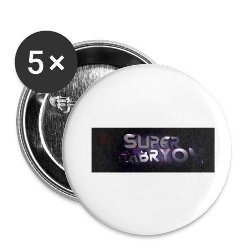 SUPERGABRY04 - Confezione da 5 spille piccole (25 mm)