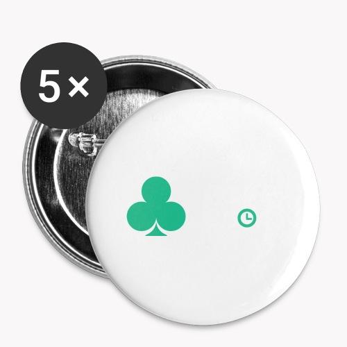 Poker Clock Logo - Buttons klein 25 mm (5er Pack)