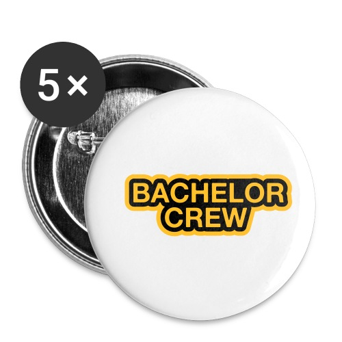 Bachelor Crew - Bachelor T-Shirt - Bräutigam Shirt - Buttons klein 25 mm (5er Pack)