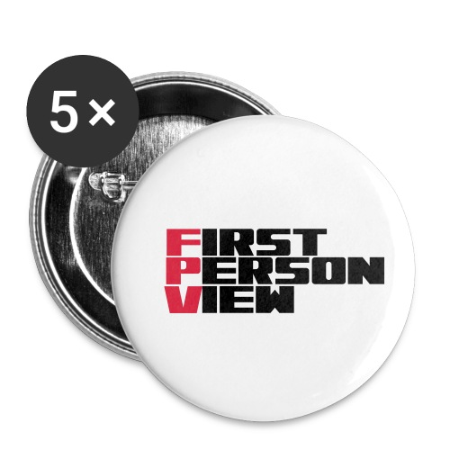 First Person View - Buttons small 1''/25 mm (5-pack)