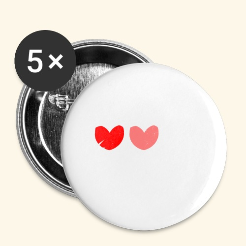 3hrts - Buttons/Badges lille, 25 mm (5-pack)