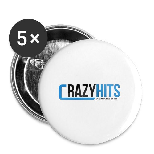 CrazyHIT - Lot de 5 petits badges (25 mm)