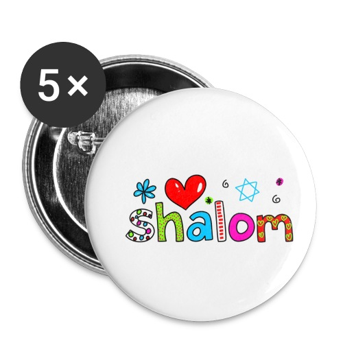 Shalom II - Buttons klein 25 mm (5er Pack)