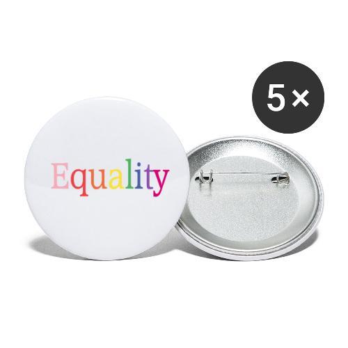 Equality | Regenbogen | LGBT | Proud - Buttons klein 25 mm (5er Pack)