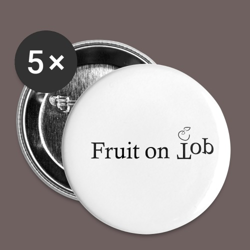 GBIGBO zjebeezjeboo - Fleur - Fruit [FlexPrint] - Lot de 5 petits badges (25 mm)