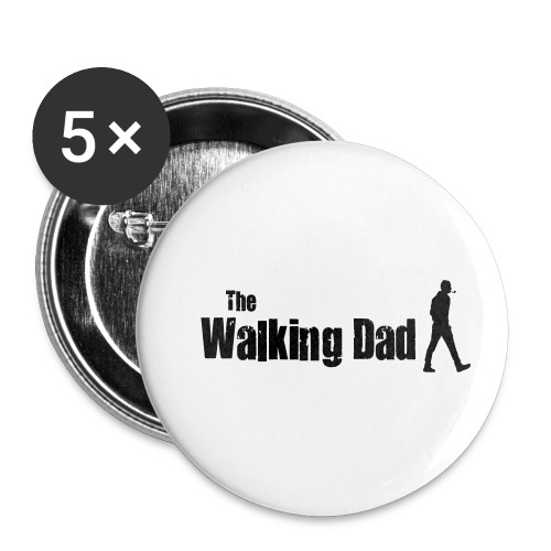 the walking dad - Buttons small 1''/25 mm (5-pack)