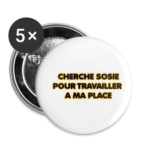 cherche_sosie2 - Lot de 5 petits badges (25 mm)
