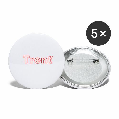 TRENT classic red - Buttons small 1''/25 mm (5-pack)