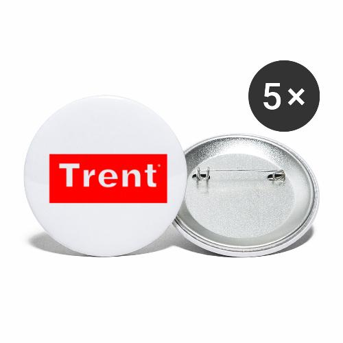 TRENT classic red block - Buttons small 1''/25 mm (5-pack)