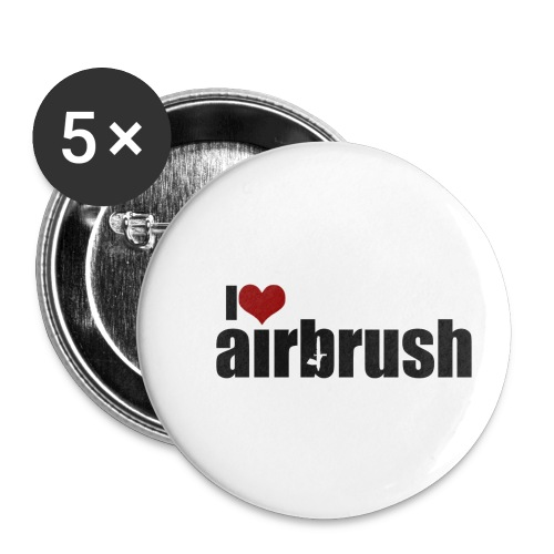 I Love airbrush - Buttons klein 25 mm (5er Pack)
