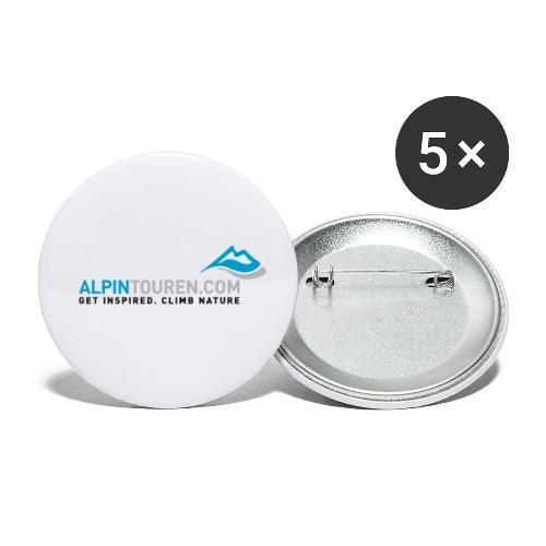 Alpintouren Logo - Buttons klein 25 mm (5er Pack)