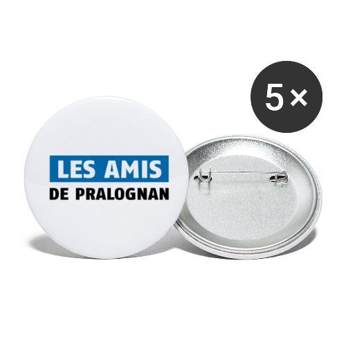 les amis de pralognan texte - Lot de 5 petits badges (25 mm)