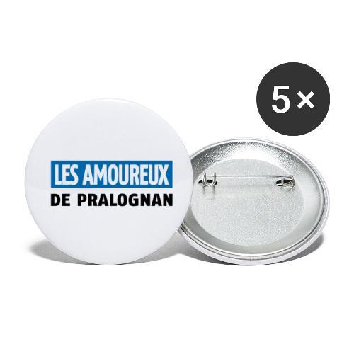 les amoureux de pralognan texte - Lot de 5 petits badges (25 mm)
