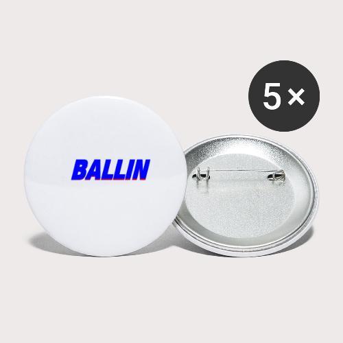 Ballin - Buttons klein 25 mm (5er Pack)