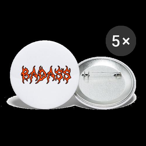 Badass coral - Små knappar 25 mm (5-pack)