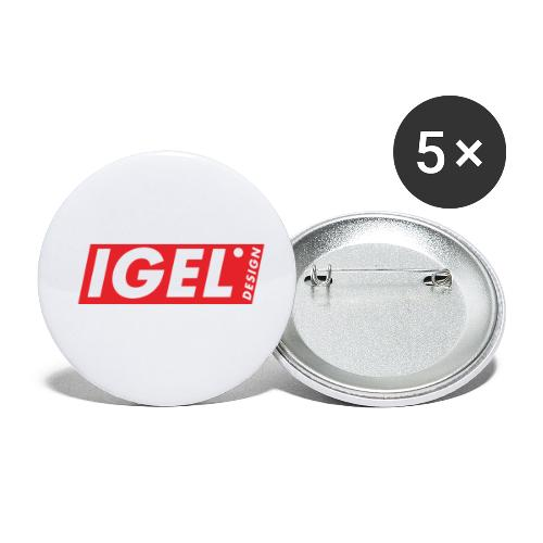 IGEL Design - Buttons klein 25 mm (5er Pack)