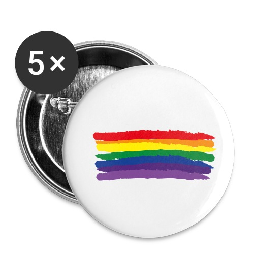 Rainbow Flag & colors - Buttons small 1''/25 mm (5-pack)