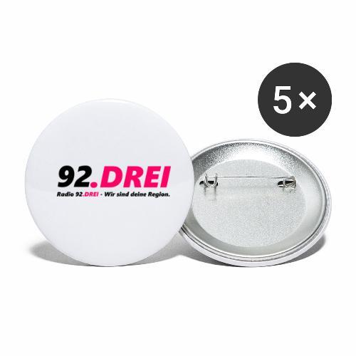Schriftlogo - Buttons klein 25 mm (5er Pack)