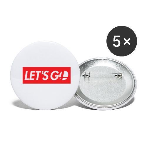 letsgo - Confezione da 5 spille piccole (25 mm)