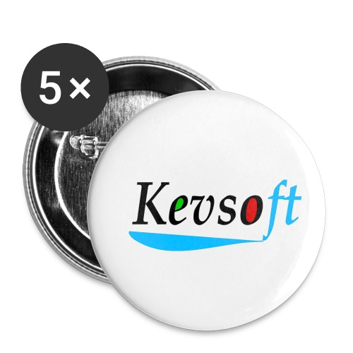 Kevsoft - Buttons small 1''/25 mm (5-pack)