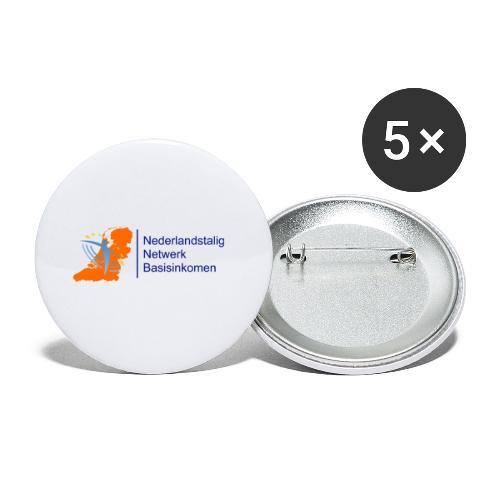 nederlandstalig netwerk basisinkomen - Buttons klein 25 mm (5-pack)