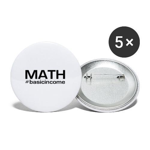 math-black - Buttons klein 25 mm (5-pack)