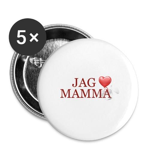 Jag älskar mamma - Små knappar 25 mm (5-pack)