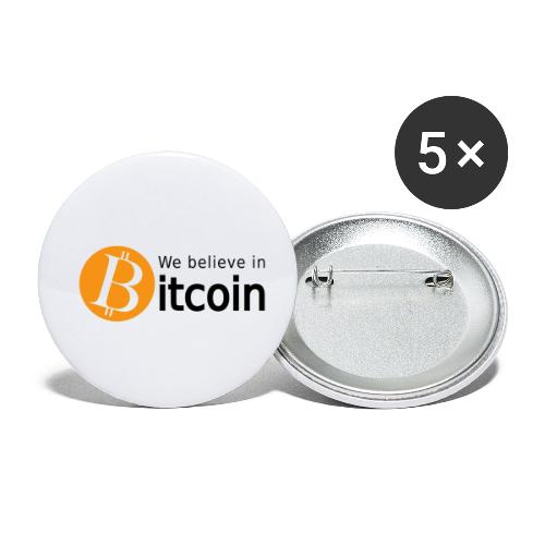 We believe in Bitcoin - Buttons klein 25 mm (5er Pack)