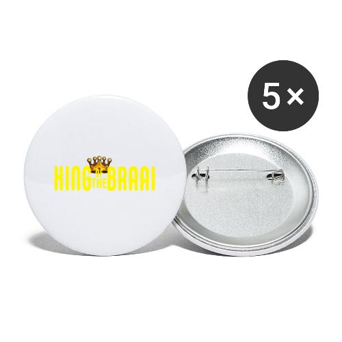 KING OF THE BRAAI - Buttons klein 25 mm (5-pack)