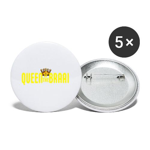 QUEEN OF THE BRAAI - Buttons klein 25 mm (5-pack)
