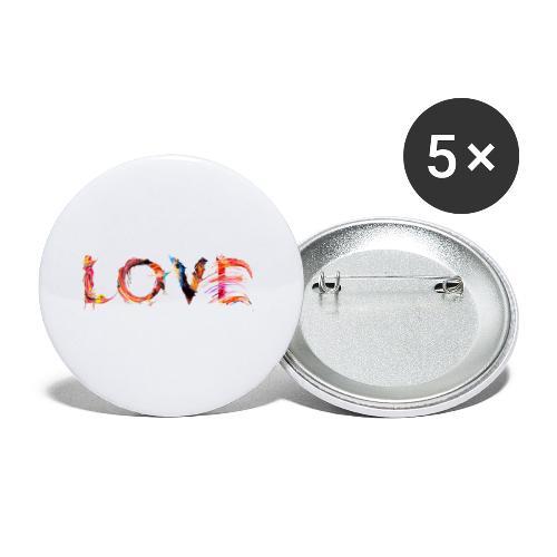 Love - Lot de 5 petits badges (25 mm)