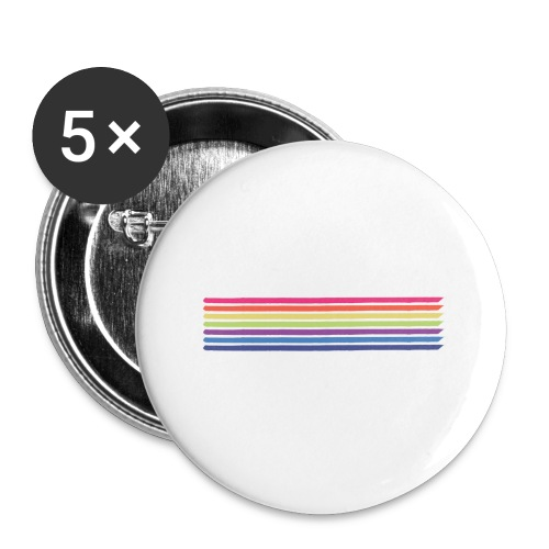 Colored lines - Buttons small 1''/25 mm (5-pack)
