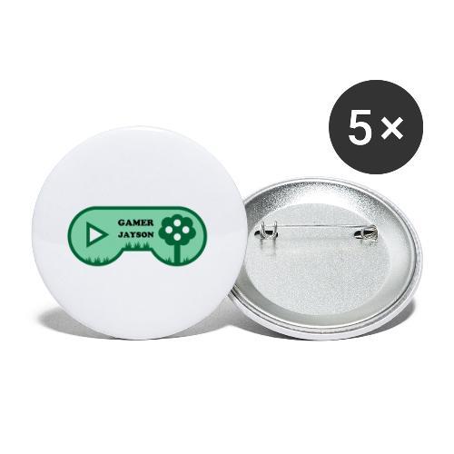 Joueur Jayson - Lot de 5 petits badges (25 mm)