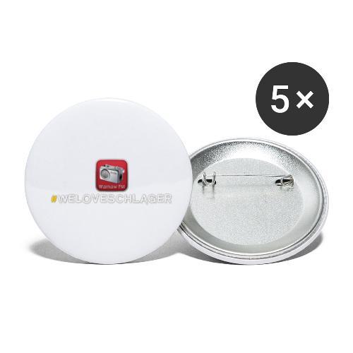 WeLoveSchlager 1 - Buttons klein 25 mm (5er Pack)