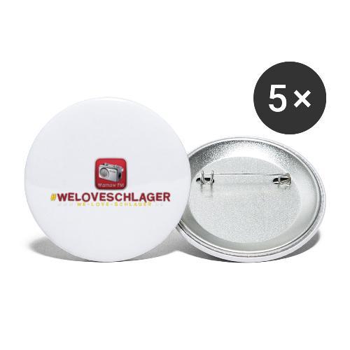 WeLoveSchlager de - Buttons klein 25 mm (5er Pack)