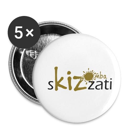 Beanie in jersey con logo sKizzati Kizomba - Verde - Confezione da 5 spille piccole (25 mm)