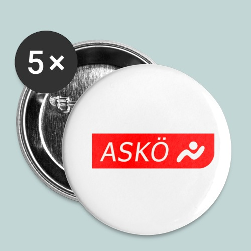 askoelogo1 - Buttons klein 25 mm (5er Pack)