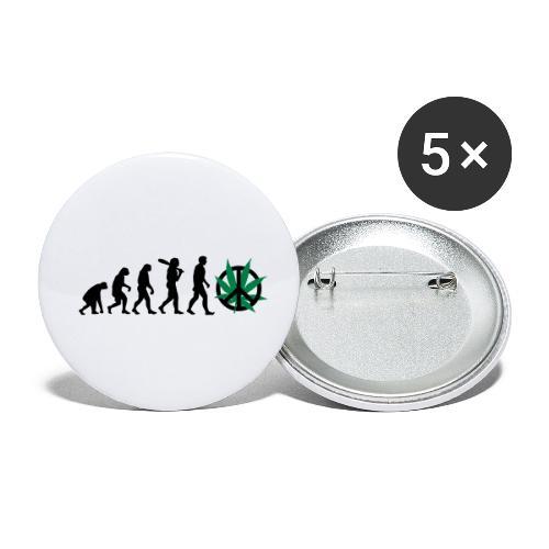 Evolution Cannabis - Buttons klein 25 mm (5er Pack)