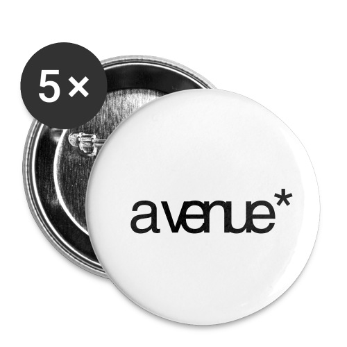Logo AVenue1 80 - Buttons klein 25 mm (5-pack)
