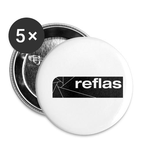 Reflas Clothing Black/Gray - Confezione da 5 spille piccole (25 mm)