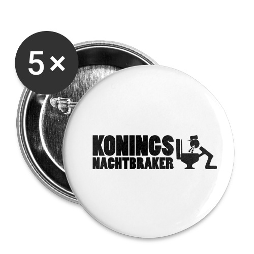 Koningsnachtbraker - Buttons klein 25 mm (5-pack)