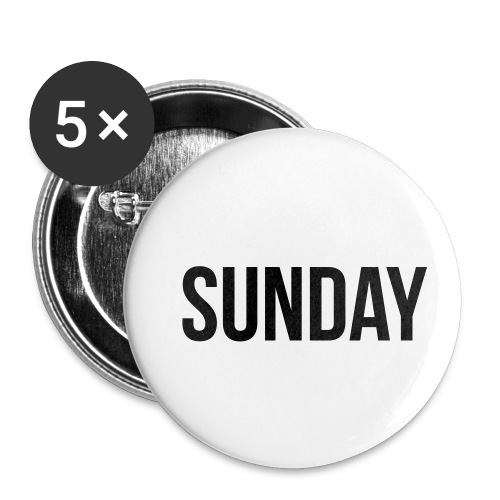 Sunday - Buttons small 1''/25 mm (5-pack)