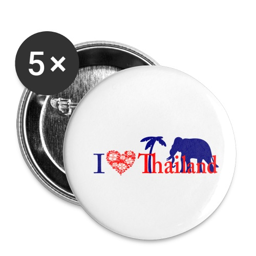 I love Thailand - Buttons small 1''/25 mm (5-pack)